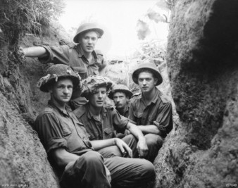 Majon'ni, Korea 9 June 1953: men of C Coy 2 RAR in the trenches on The Hook