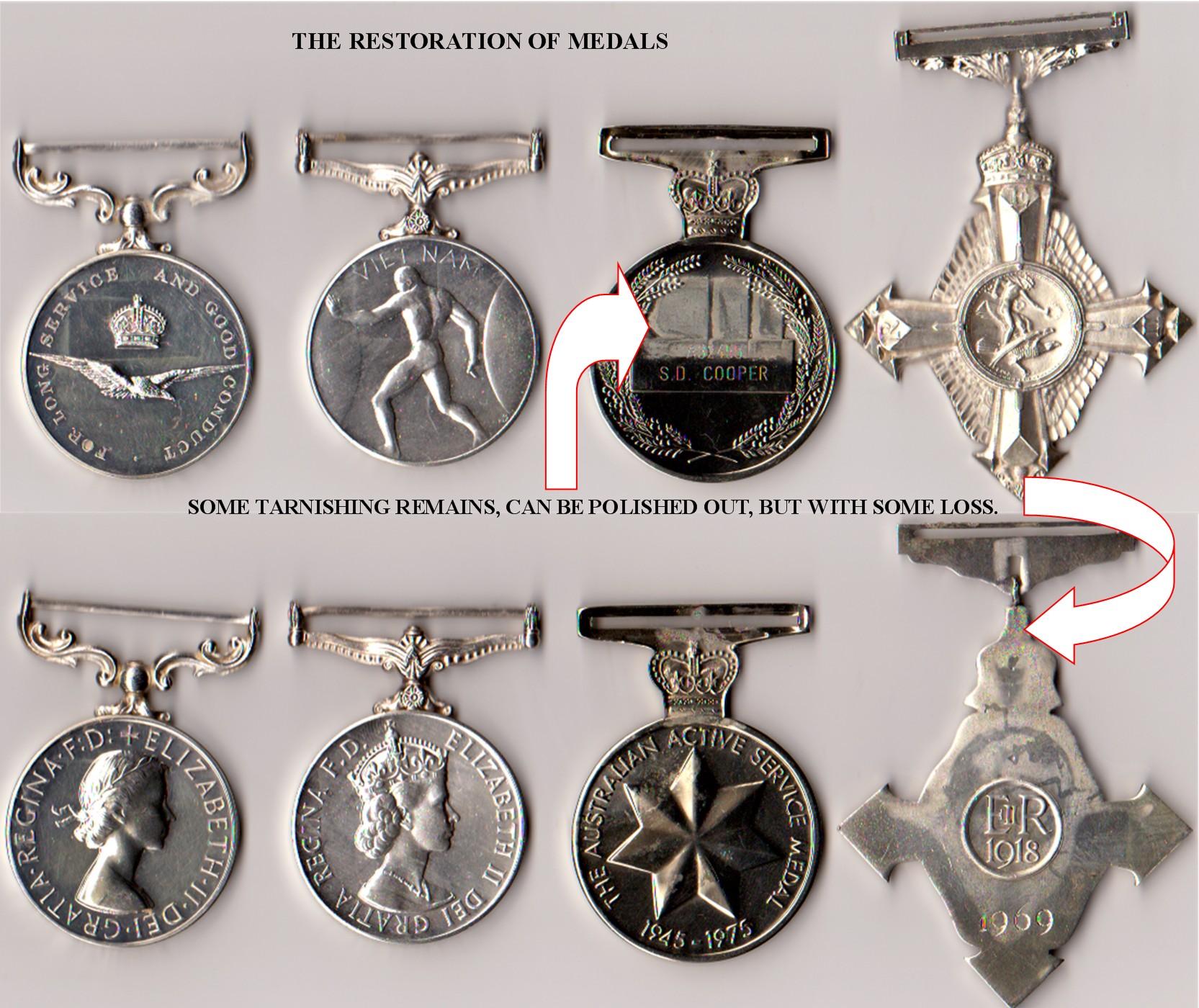 Medals after restoration